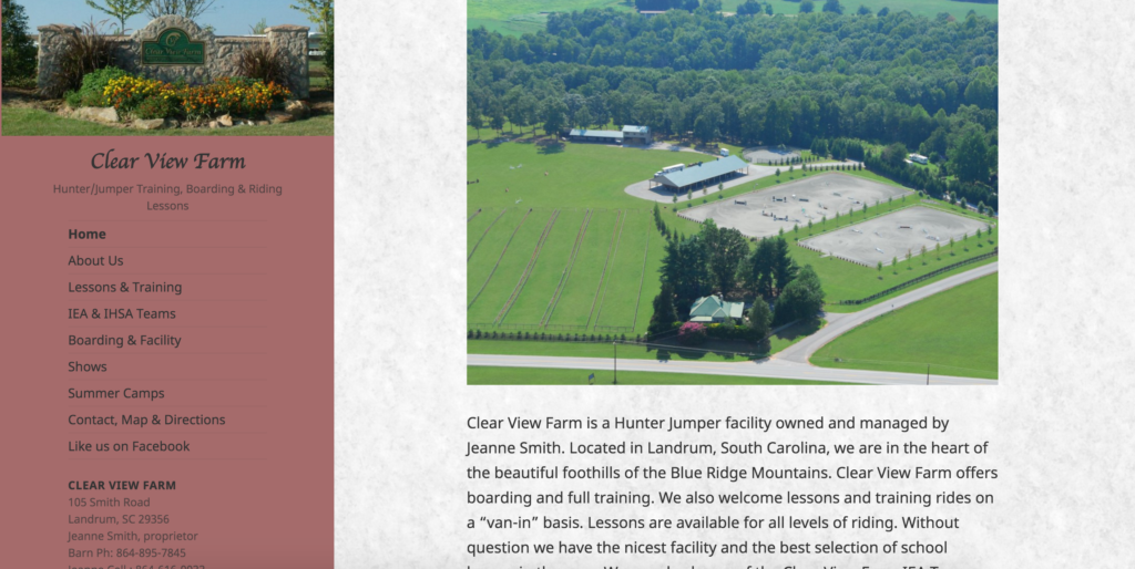 Clear View Farm Website