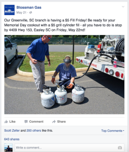 Blossman Gas Facebook Promoted Post